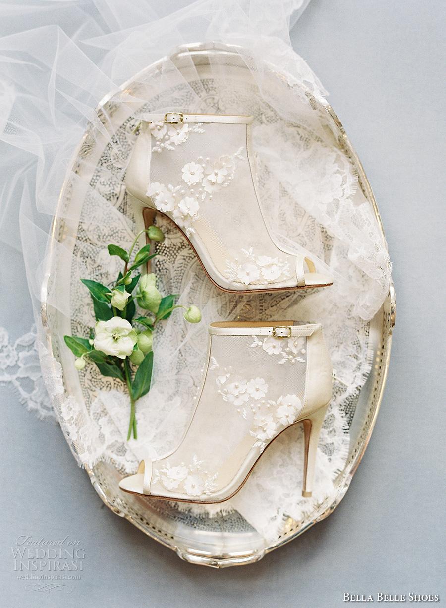 bella belle shoes bridal wedding shoes peek toes booties high heels (5)