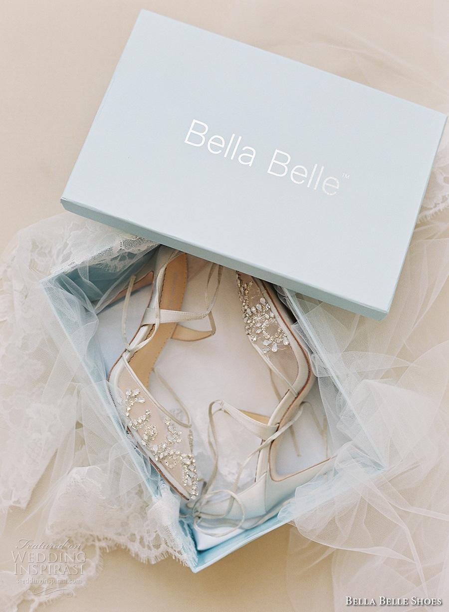 bella belle shoes bridal wedding shoes sheer embrodered high heels cross ankle strap dorsay pump