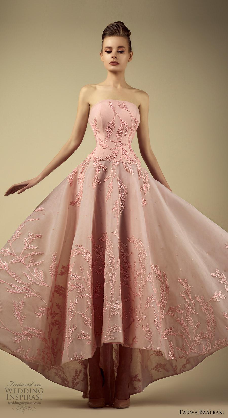 fadwa baalbaki spring 2017 couture strapless straightacross a line high low pink gown (5) mv