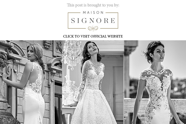 maison signore 2017 bridal colletions banner below