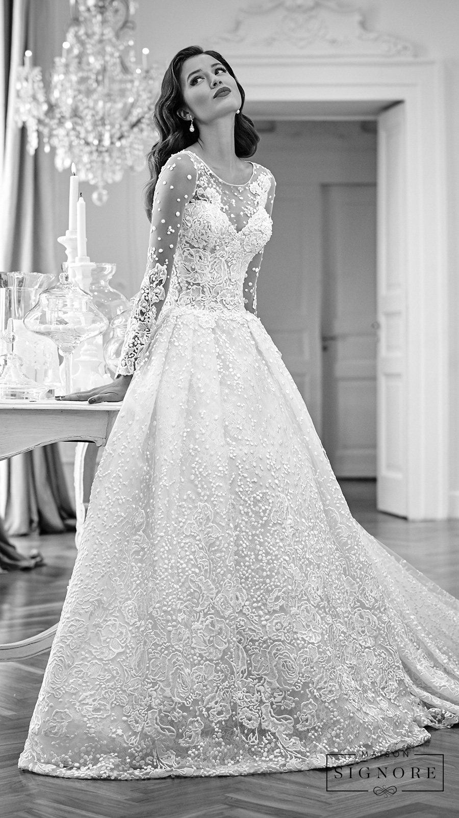 Maison Signore Excellence Long Sleeves Wedding Gown 1
