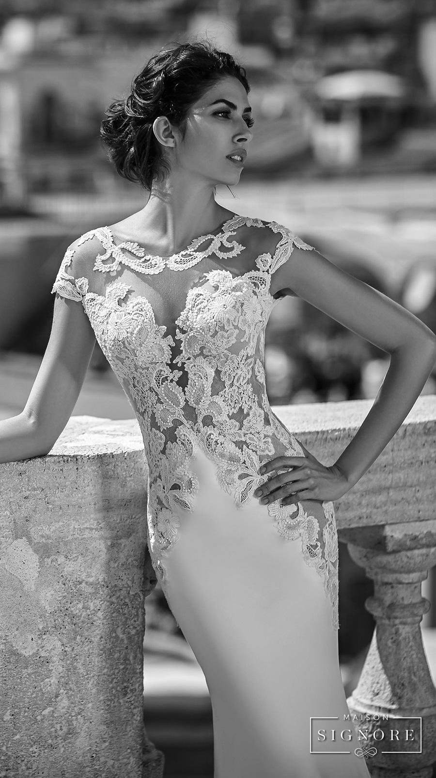 maison signore valeria marini seductions long sleeves wedding gown 4