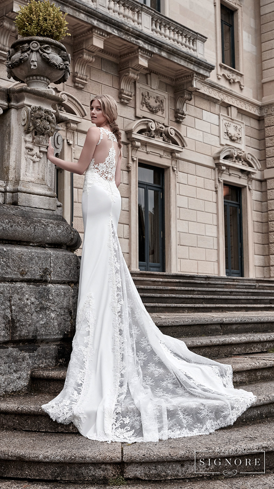 maison signore victoria f long sleeves wedding gown 3