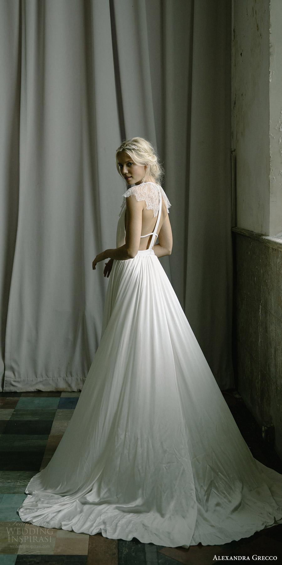 alexandra grecco fall 2017 bridal illusion cap sleeves jewel neck keyhole a line wedding dress (paloma) bv
