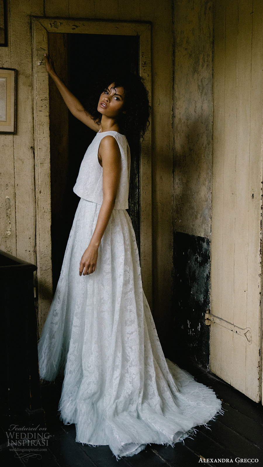 alexandra grecco fall 2017 bridal two piece wedding dress