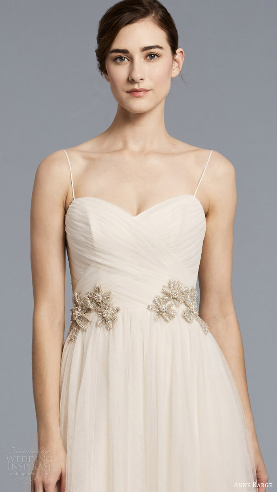 anne barge spring 2018 bridal sleeveless spaghetti straps sweetheart surplice ruched bodice a line wedding dress (birkin) zfv