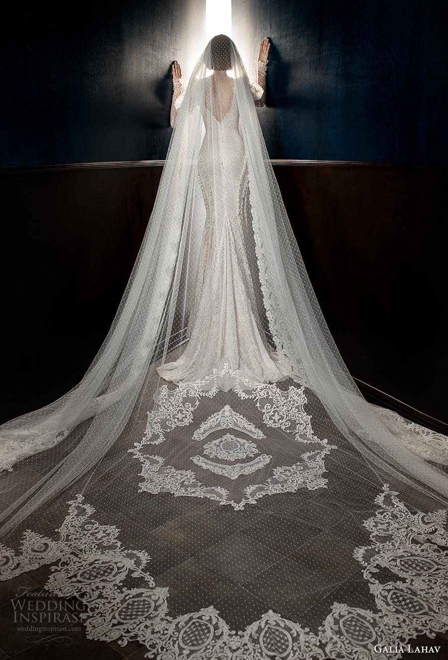 galia lahav spring 2018 long cathedral veil (esther) mv