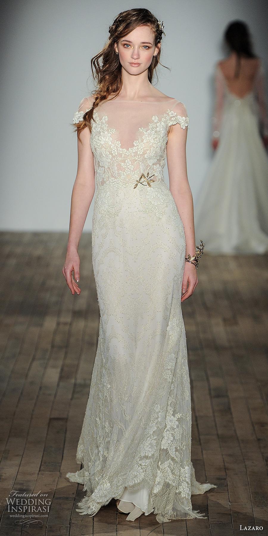 Wedding Dresses Fife 10 Good lazaro fall bridal cap
