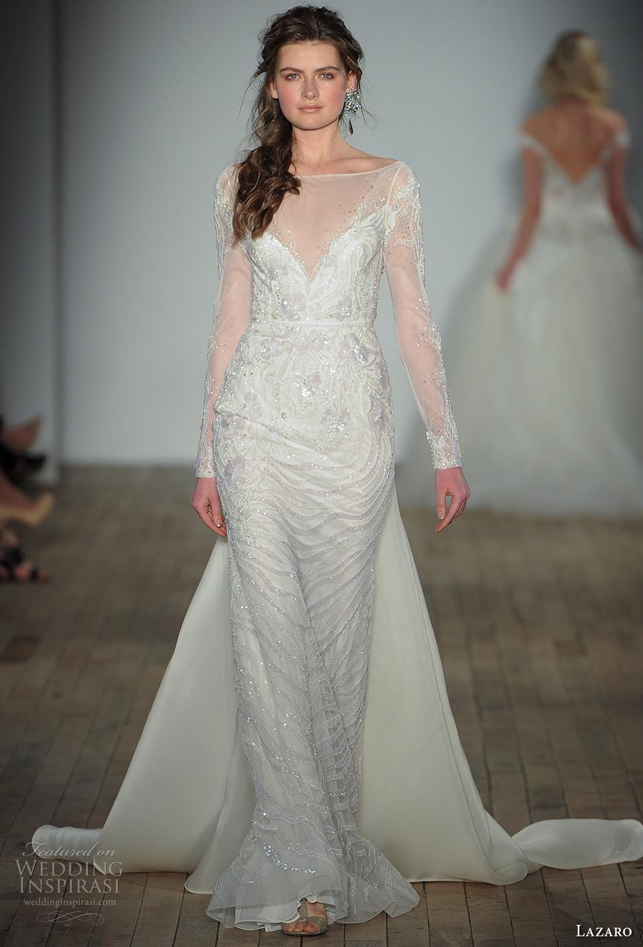 Wedding Dresses Fife 13 Superb lazaro fall bridal llong