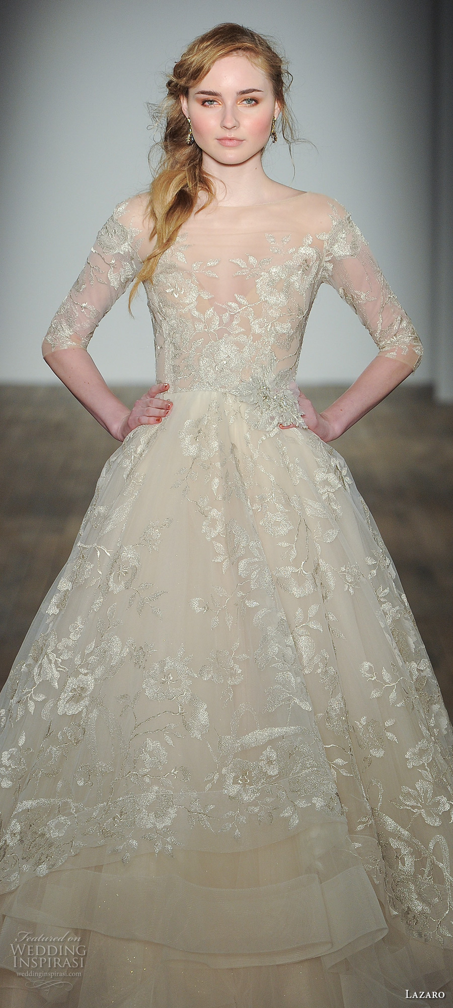 Lazaro fall 2017 wedding dresses new york bridal fashion for A line wedding dresses 2017