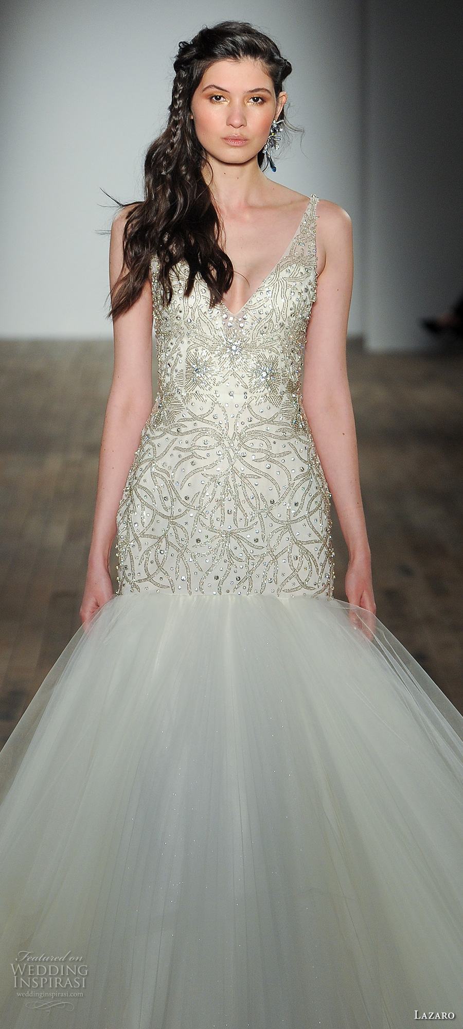 Wedding Dresses Fife 11 Simple lazaro fall bridal sleeveless
