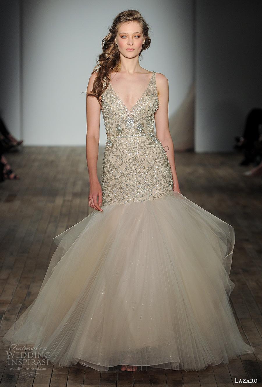Wedding Dresses Fife 8 Simple lazaro fall bridal sleeveless