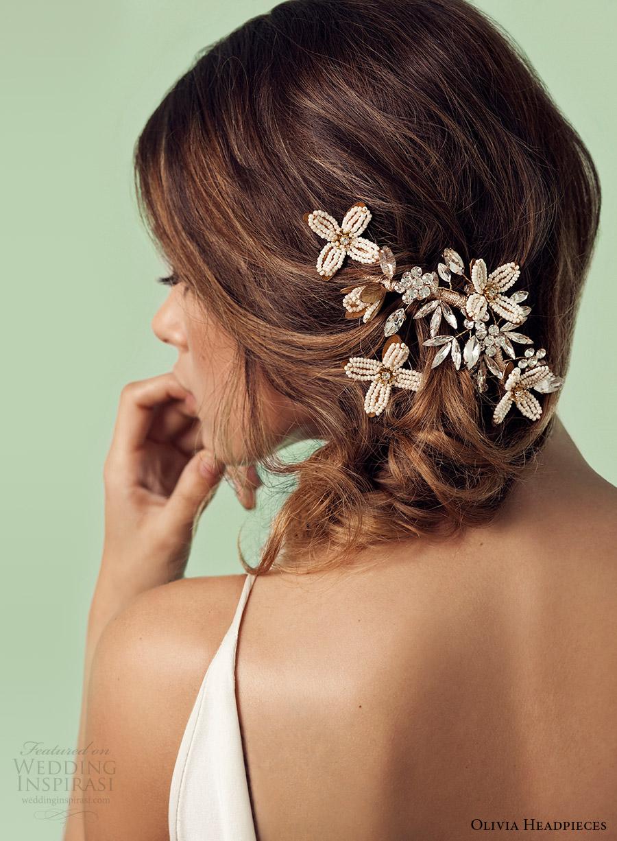 olivia headpieces 2017 bridal accessories elena hair pin set