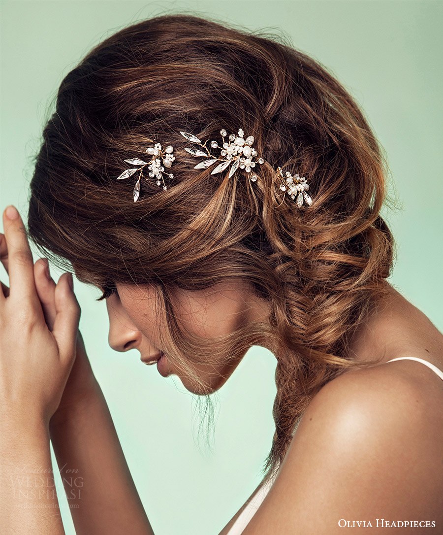 olivia headpieces 2017 bridal hair accessories lila hair pins wedding hair style inspiration