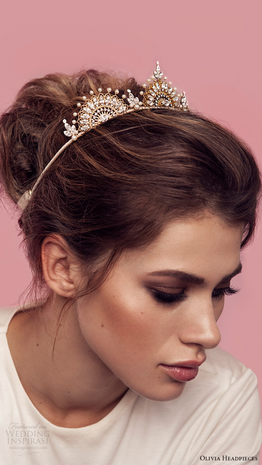 olivia headpieces 2017 bridal hair accessories victoria crown headband close up