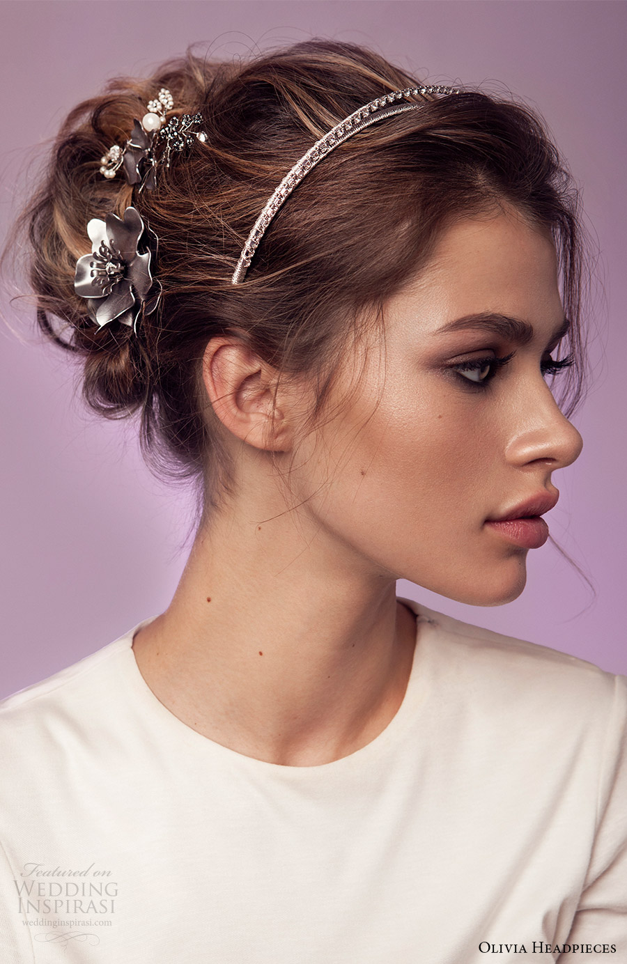 olivia headpieces 2017 bridal hair accessories wild at heart set crystal headband flower pins