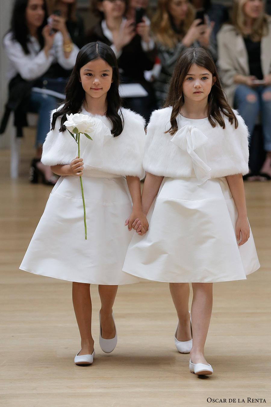 oscar de la renta spring 2018 bridal pretty flower girl dress (106) mv