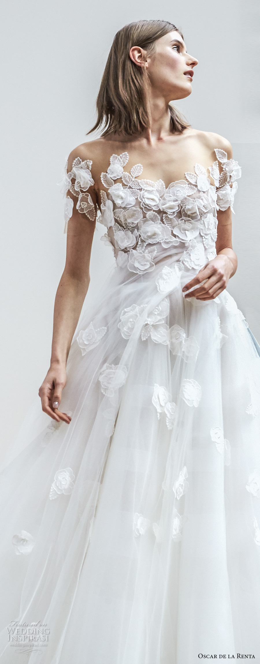 Oscar de la renta spring 2018 wedding dresses new york for Dresses for spring wedding