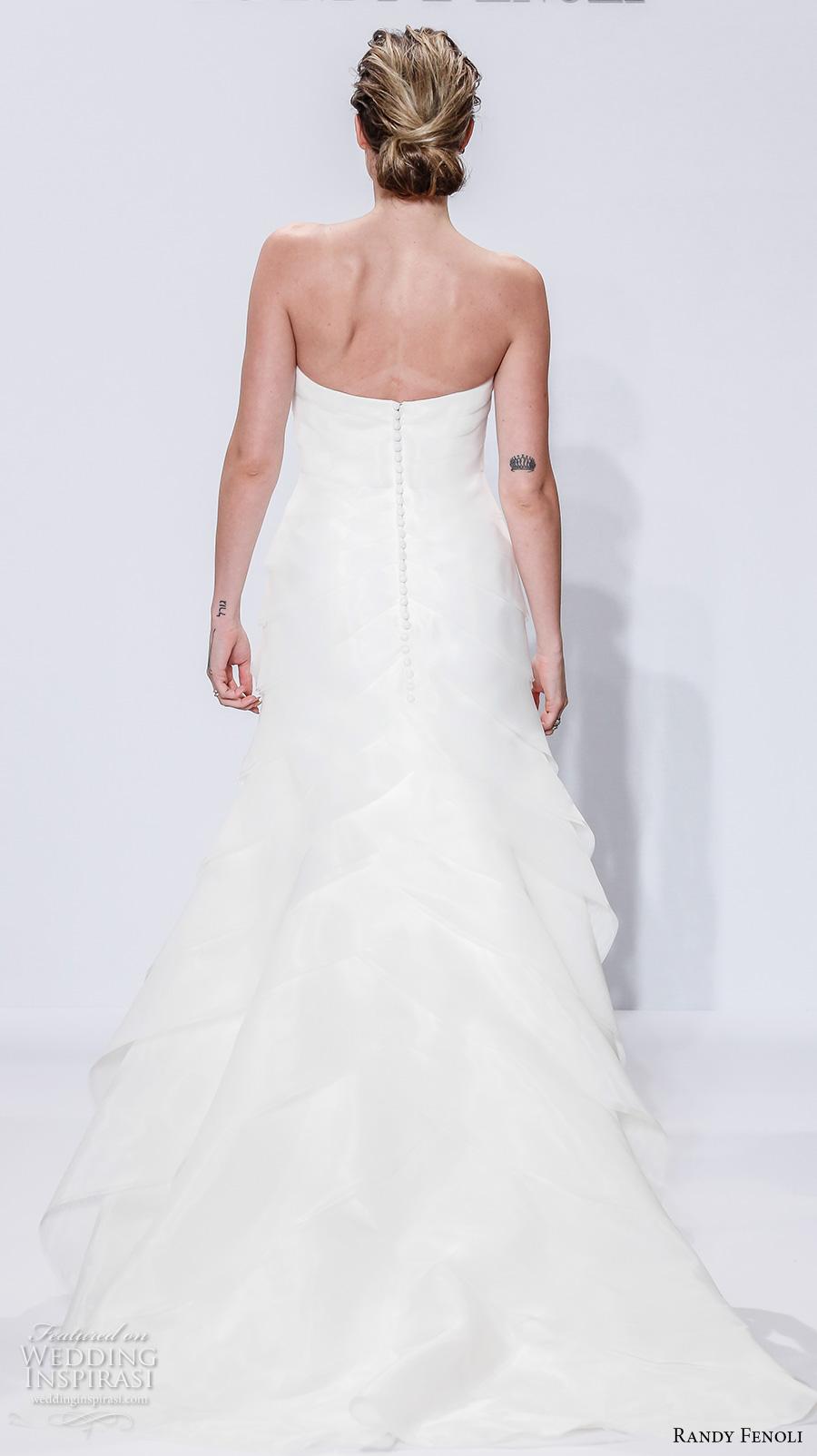 randy fenoli spring 2018 bridal semi sweetheart neckline simple elegant trumpet wedding dress chapel train (08) bv