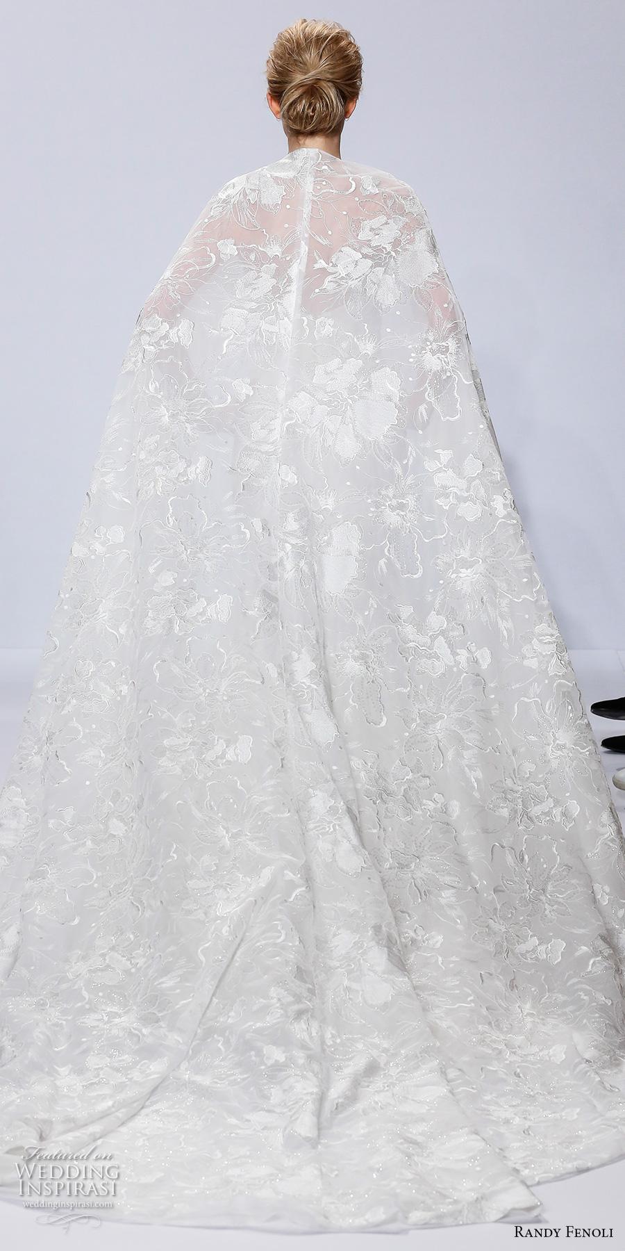 randy fenoli spring 2018 bridal strapless semi sweetheart neckline full embellished bodice elegant mermaid wedding dress full cape (16) bv
