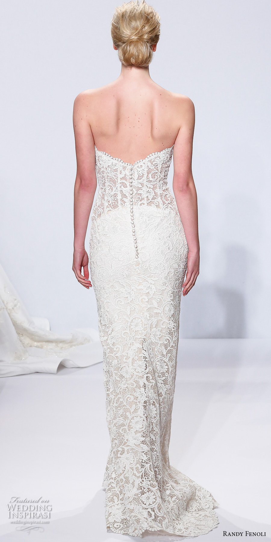randy fenoli spring 2018 bridal strapless sweetheart neckline full embellishment busiter elegant sexy sheath wedding dress sweep train (05) bv