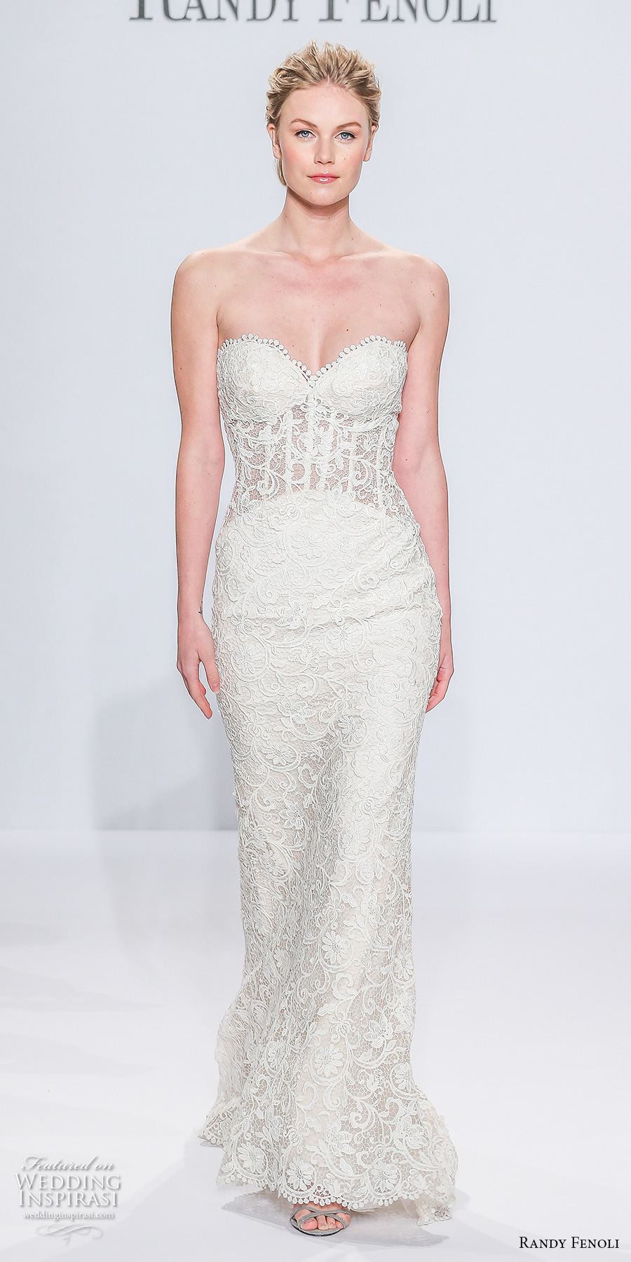 randy fenoli spring 2018 bridal strapless sweetheart neckline full embellishment busiter elegant sexy sheath wedding dress sweep train (05) mv