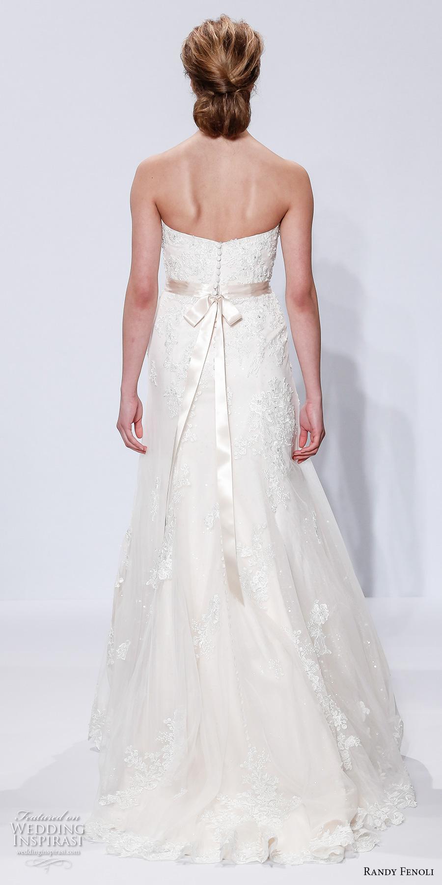 randy fenoli spring 2018 bridal strapless sweetheart neckline heavily embellished bodice romantic modified a  line wedding dress sweep train (20) bv