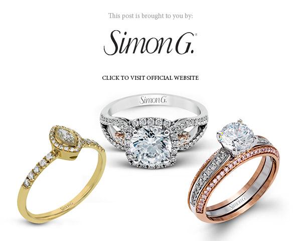 simon g jewelry 2017 halo diamond engagement ring white gold yellow gold rose gold