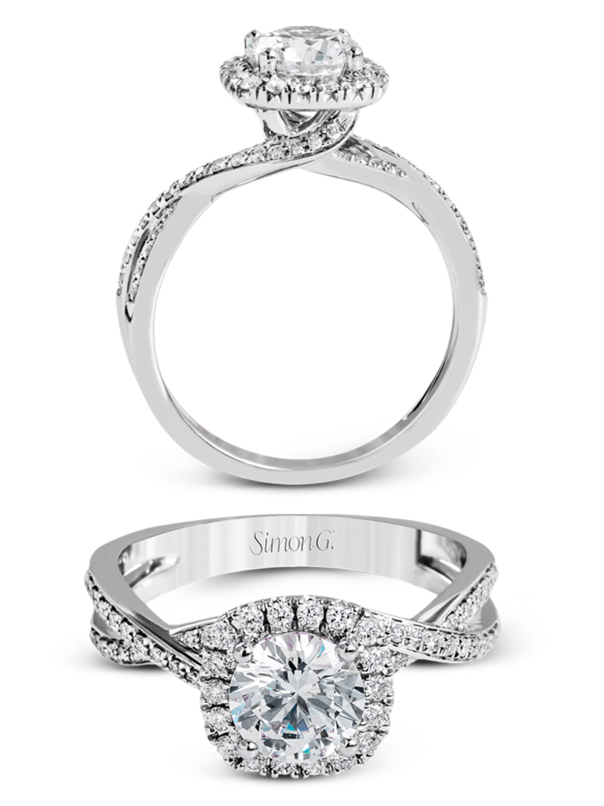 simon g jewelry 2017 trends diamond engagement rings mr1394 A F twisted shank white gold halo e ring