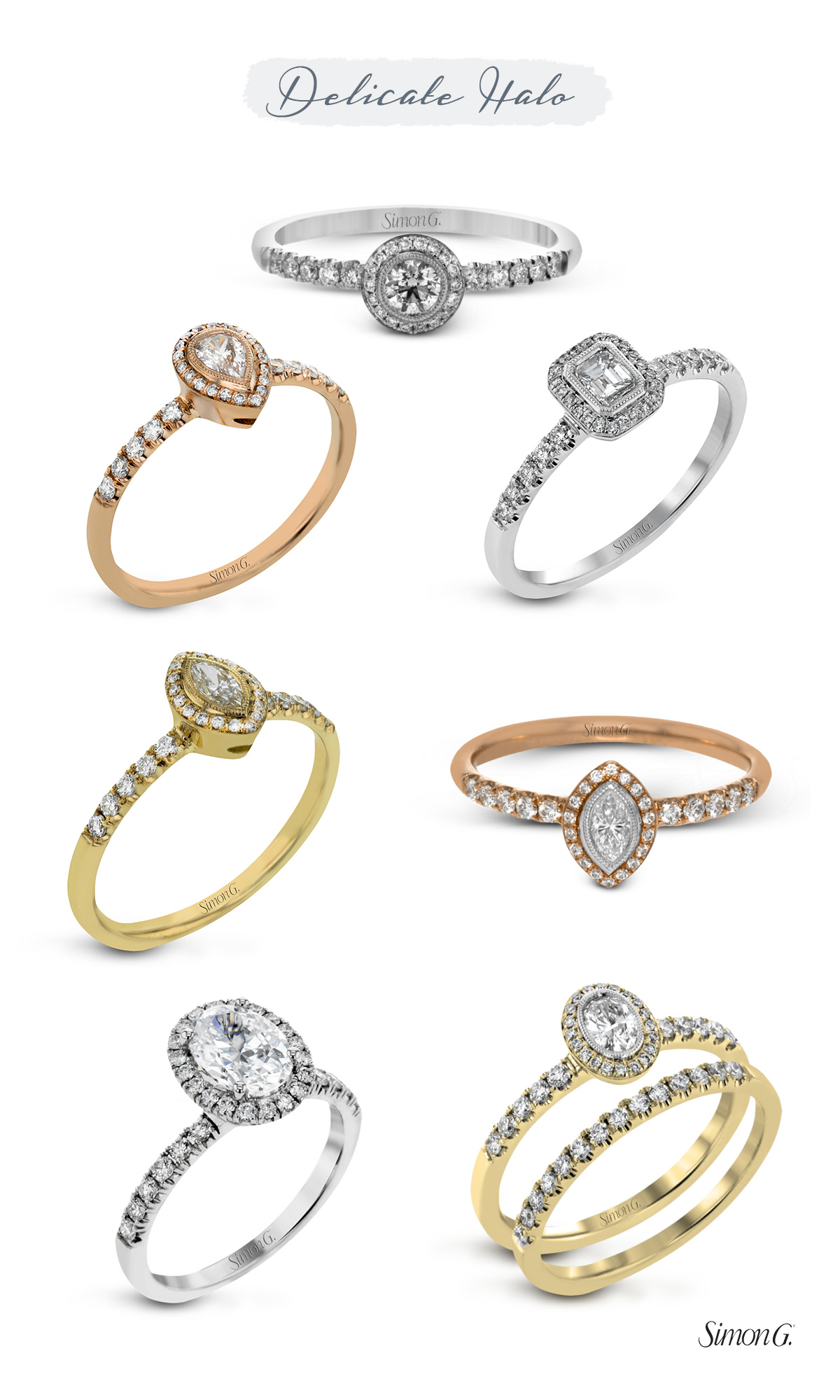 simon g jewelry 2017 trends engagement rings delicate halo diamond ring