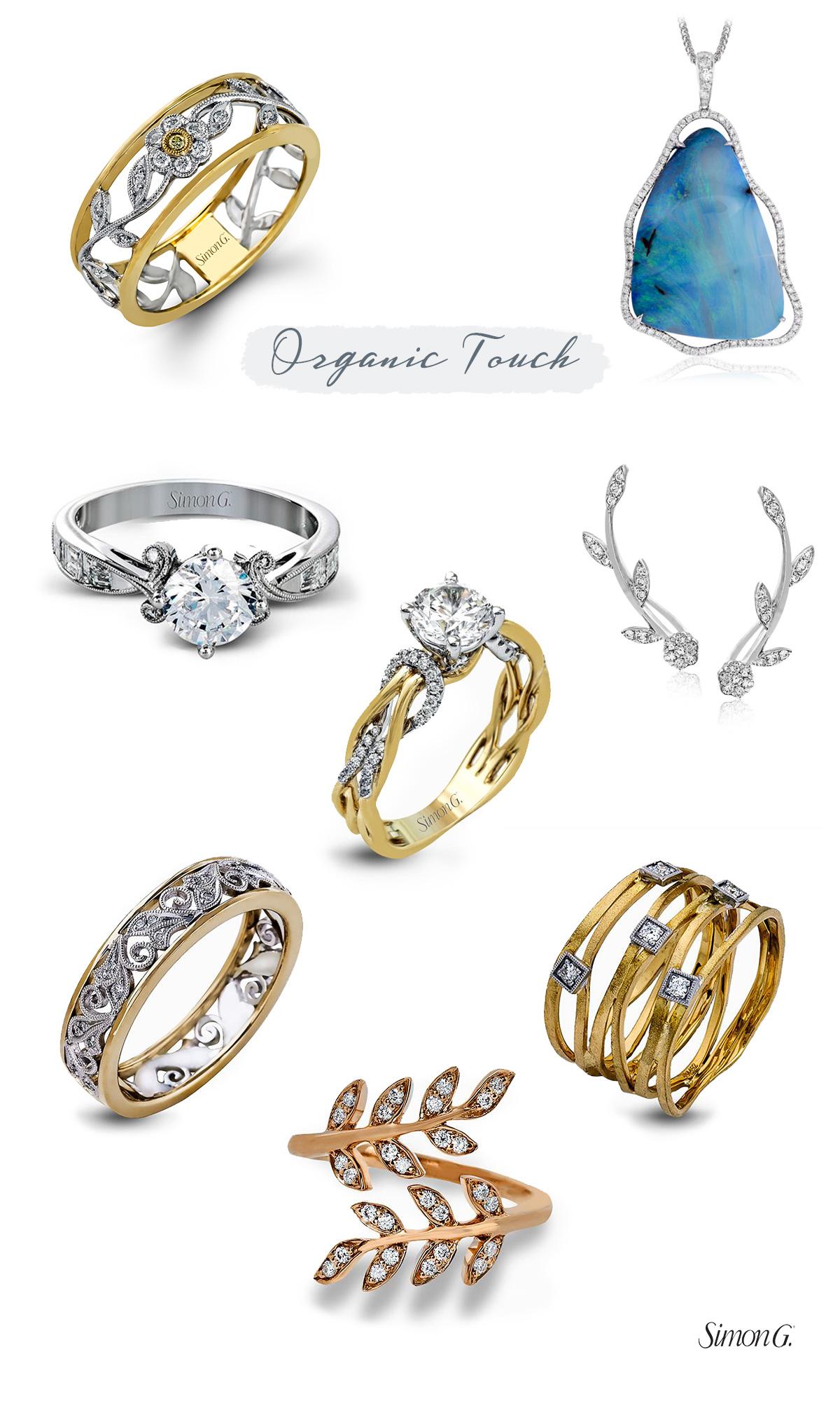 simon g jewelry 2017 trends engagement rings organic designs diamond halo e ring
