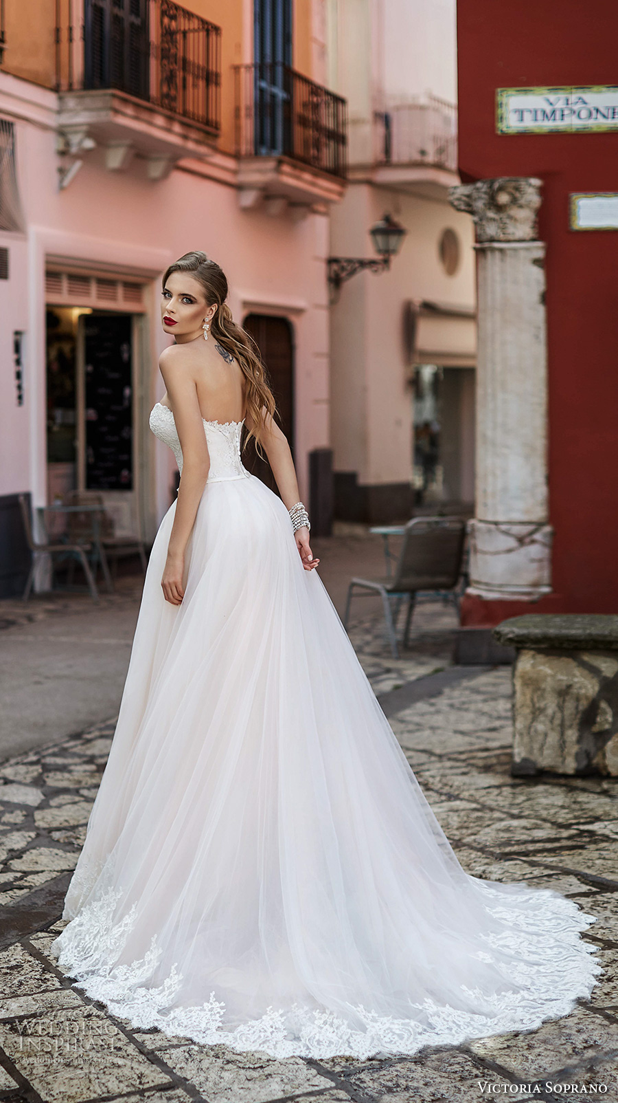 victoria soprano 2017 bridal strapless sweetheart neckline heavily embellished bodice beautiful romantic a  line wedding dress chapel train (9) bv