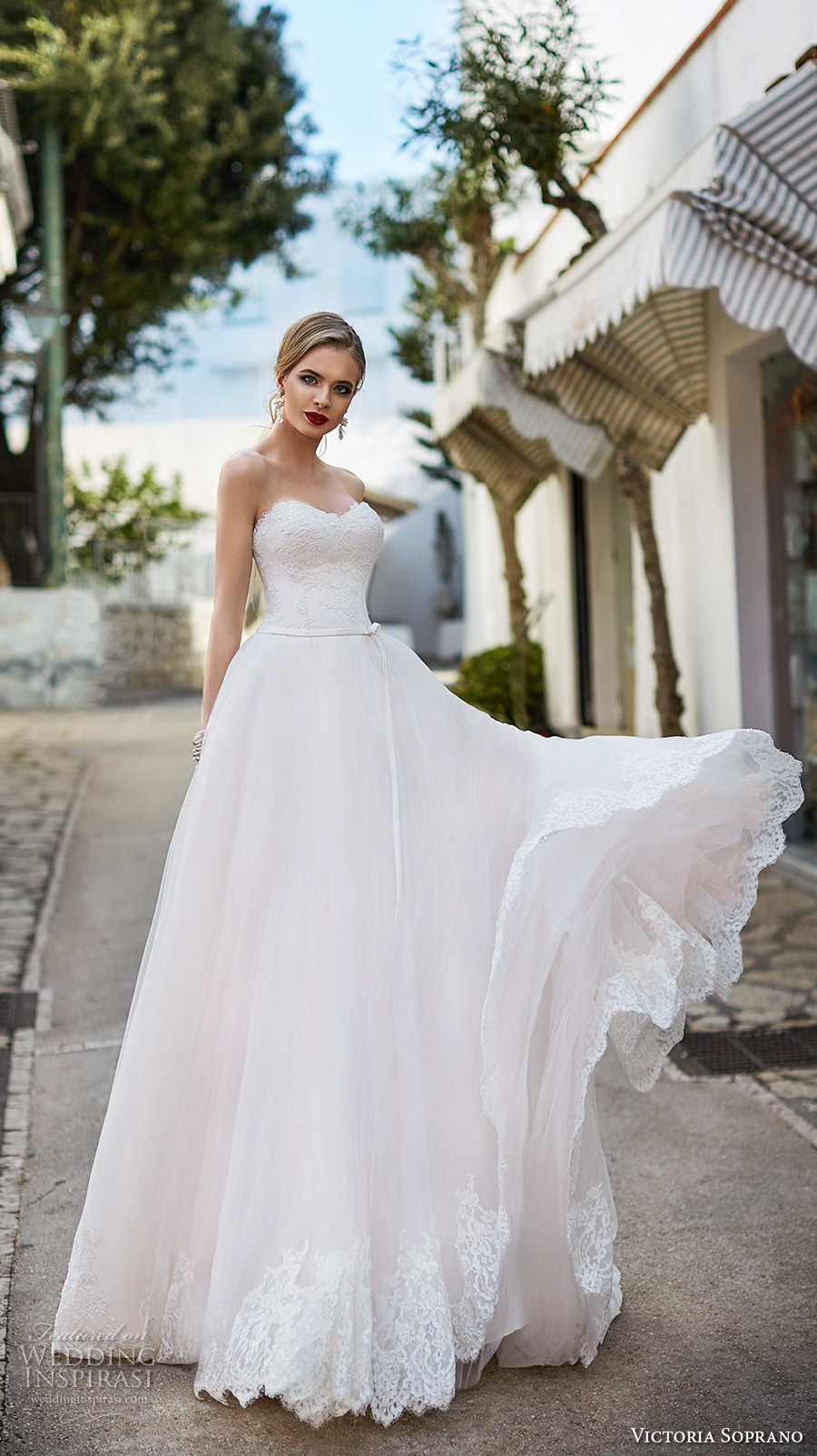 victoria soprano 2017 bridal strapless sweetheart neckline heavily embellished bodice beautiful romantic a  line wedding dress chapel train (9) mv