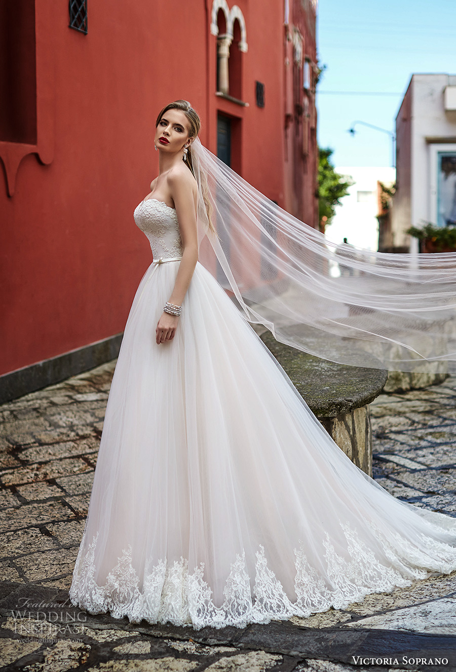 victoria soprano 2017 bridal strapless sweetheart neckline heavily embellished bodice beautiful romantic a  line wedding dress chapel train (9) sdv