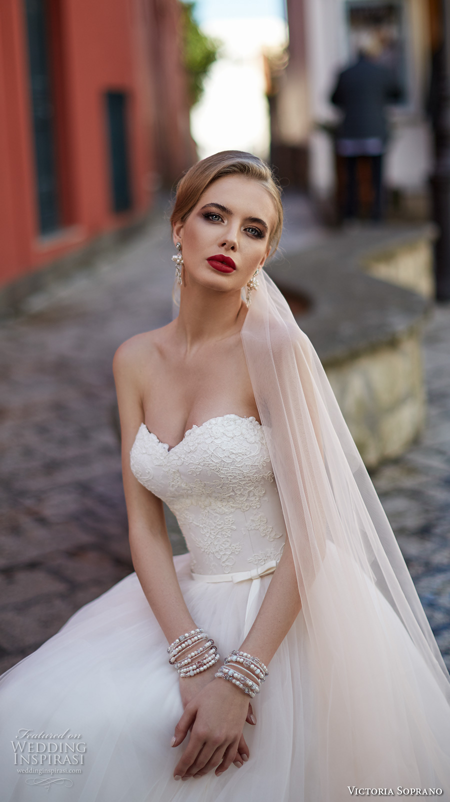 victoria soprano 2017 bridal strapless sweetheart neckline heavily embellished bodice beautiful romantic a  line wedding dress chapel train (9) zv