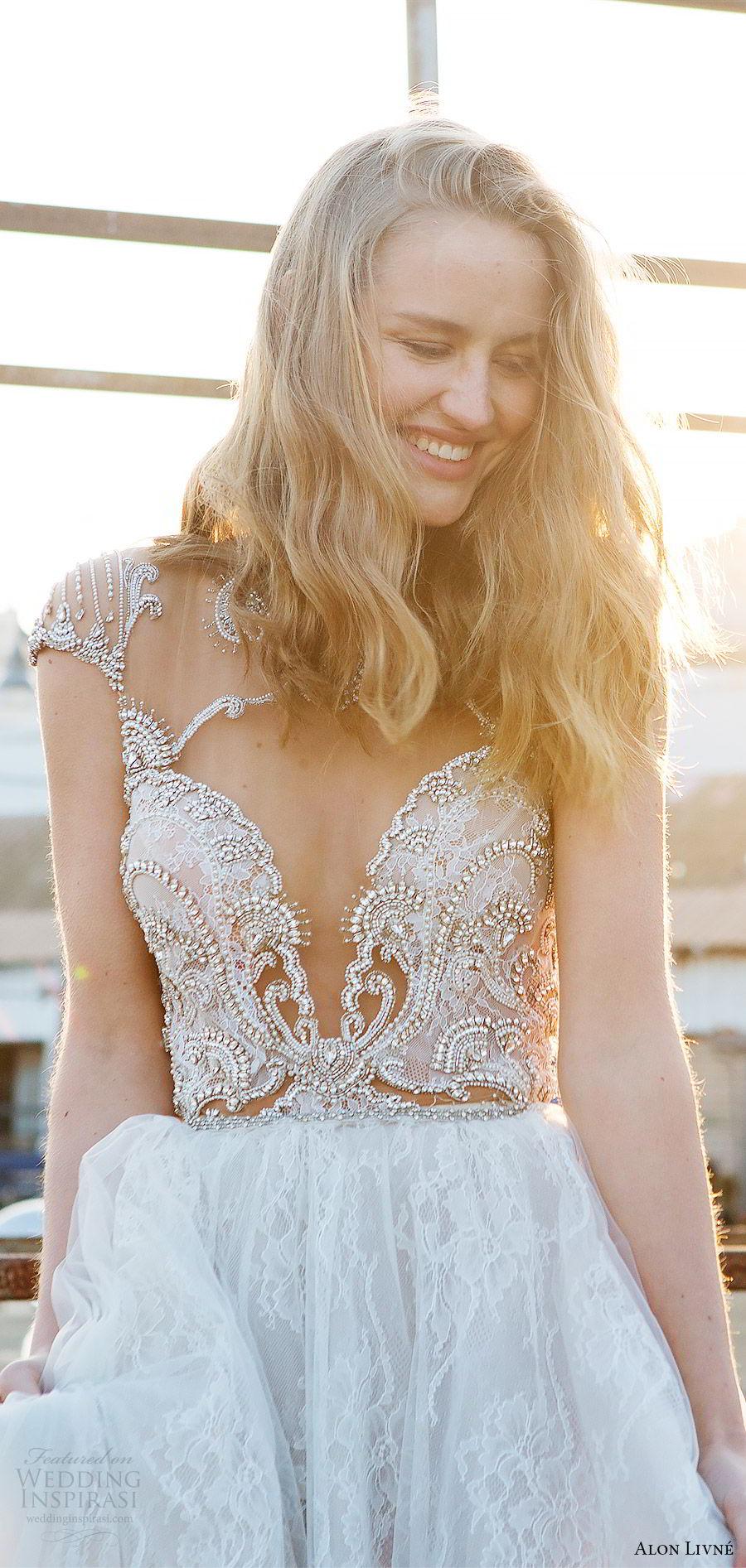 alon livne white pre 2018 bridal illusion cap sleeves sweetheart beaded bodice lace ball gown wedding dress (terri) mv princess romantic