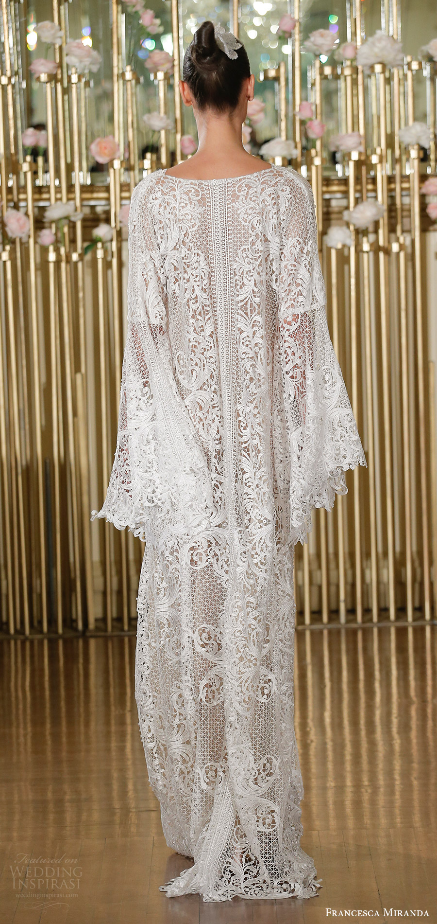 francesca miranda spring 2018 bridal long sleeves beaded lace v neck kaftan caftan wedding dress(tabatha) bv bohemian