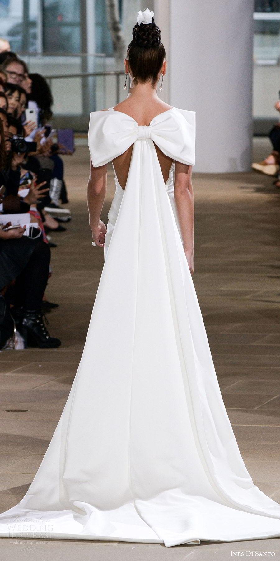 ines di santo spring 2018 bridal sleeveless bateau neck trumpet wedding dress (promise) bv illusion low back bow detachable train clean modern