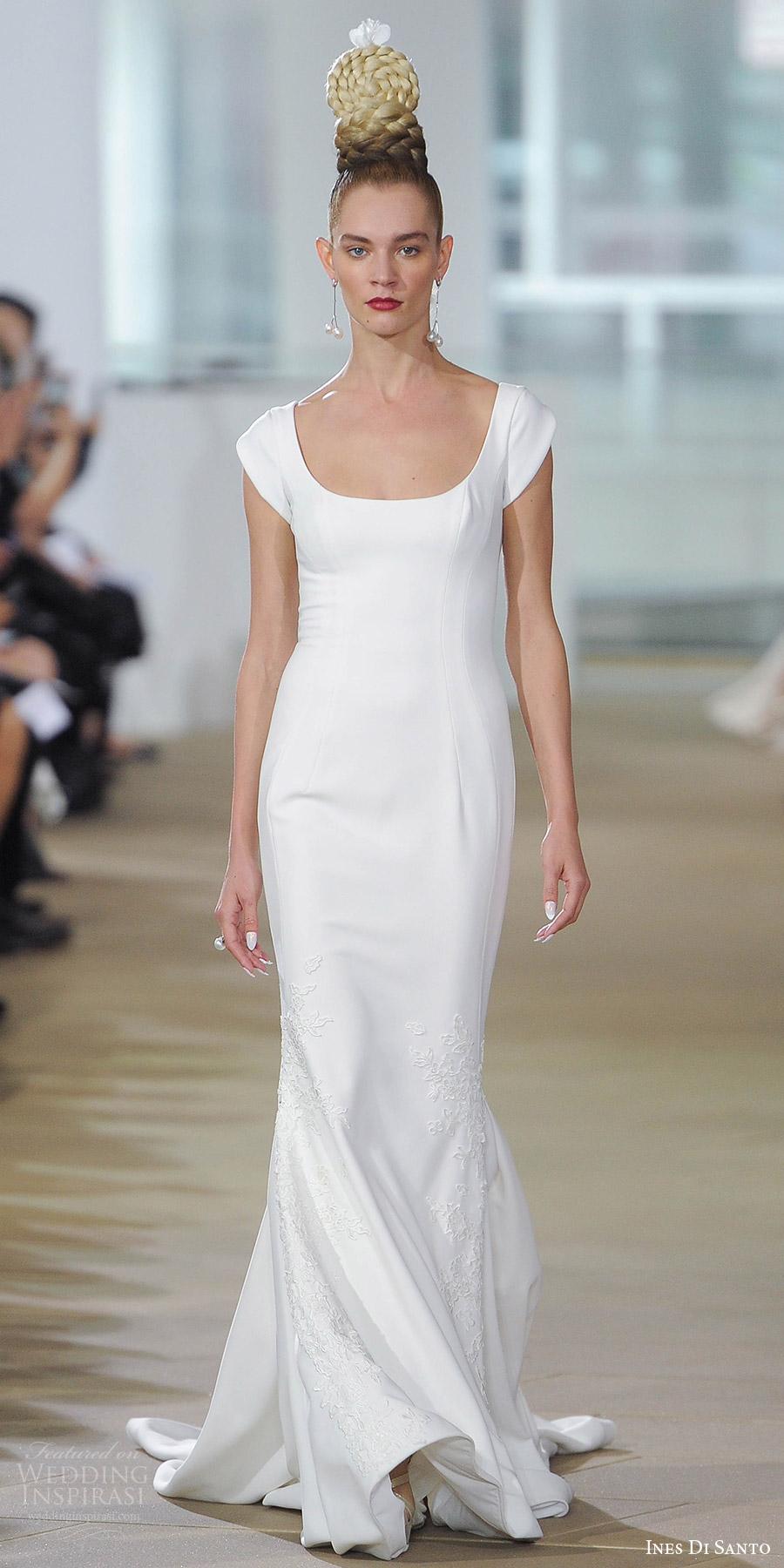 ines di santo spring 2018 bridal tulip cap sleeveless scoop neck fit flare wedding dress (carter) mv clean modern