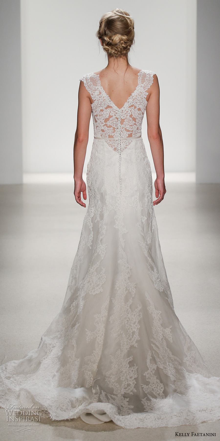 kelly faetanini spring 2018 bridal lace strap v neck full embellishment elegant fit and flare wedding dress v lace back chapel train (viola) bv