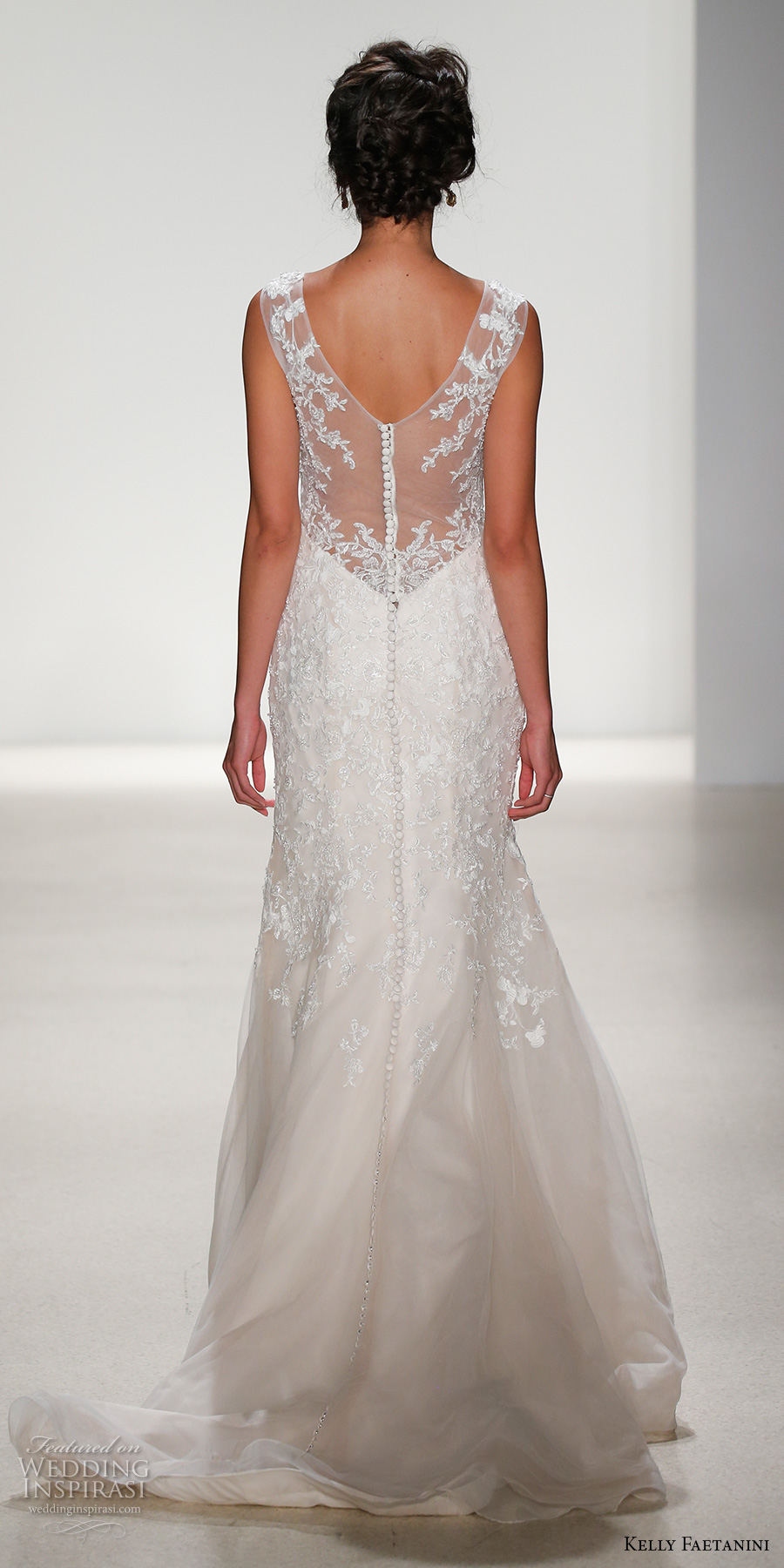 kelly faetanini spring 2018 bridal sleeveless v neck heavily embellished bodice elegant fit and flare wedding dress lace sheer back chapel train (jessica) bv