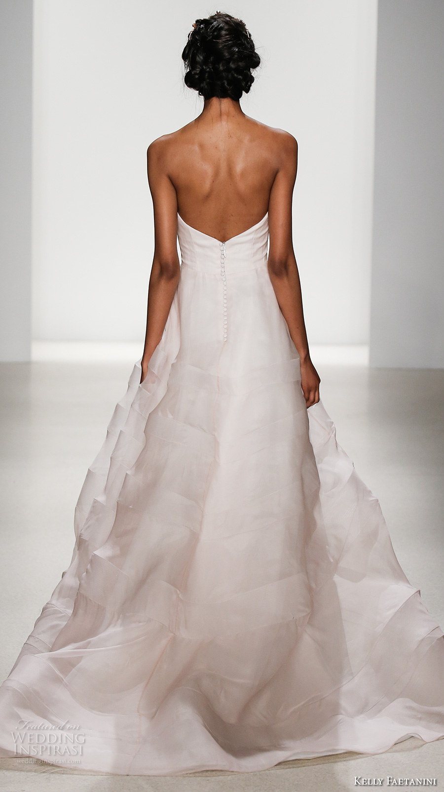 kelly faetanini spring 2018 bridal strapless sweetheart neckline simple princess romantic a  line wedding dress open back chapel train (juno) bv