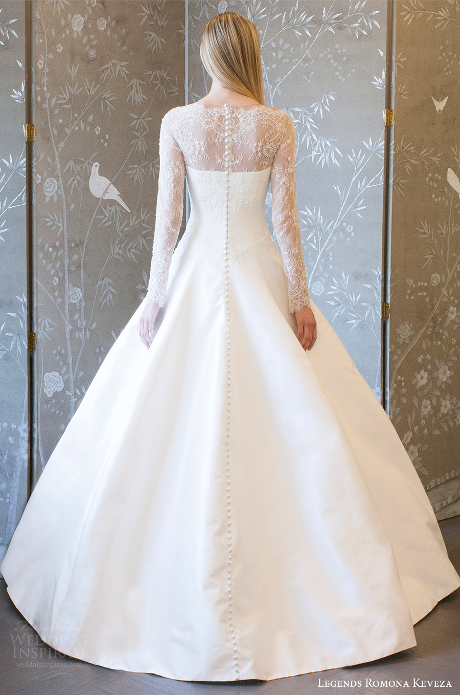 legends romona keveza spring 2018 bridal illusion long sleeves sheer neck sweetheart a line ball gown wedding dress (l8133) bv romantic elegant