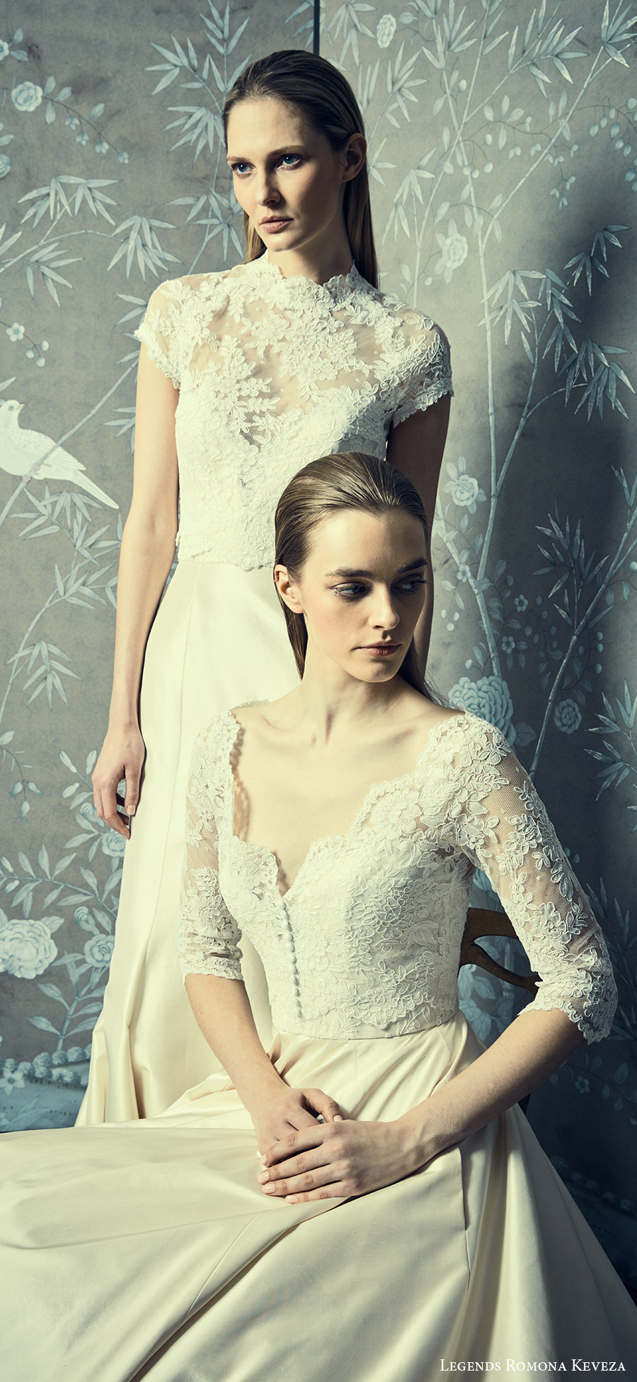 legends romona keveza spring 2018 bridal lace bodice wedding dresses romantic