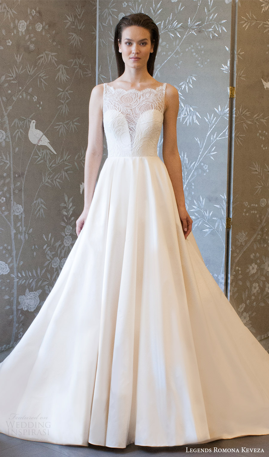 legends romona keveza spring 2018 bridal sleeveless illusion scoop neck split sweetheart a line ball gown wedding dress (l813) mv elegant train