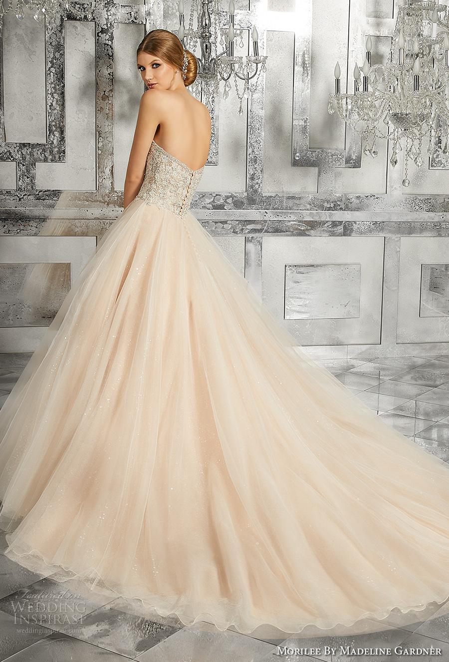 Blush Tulle Wedding Dress 42 Cool morilee fall bridal strapless