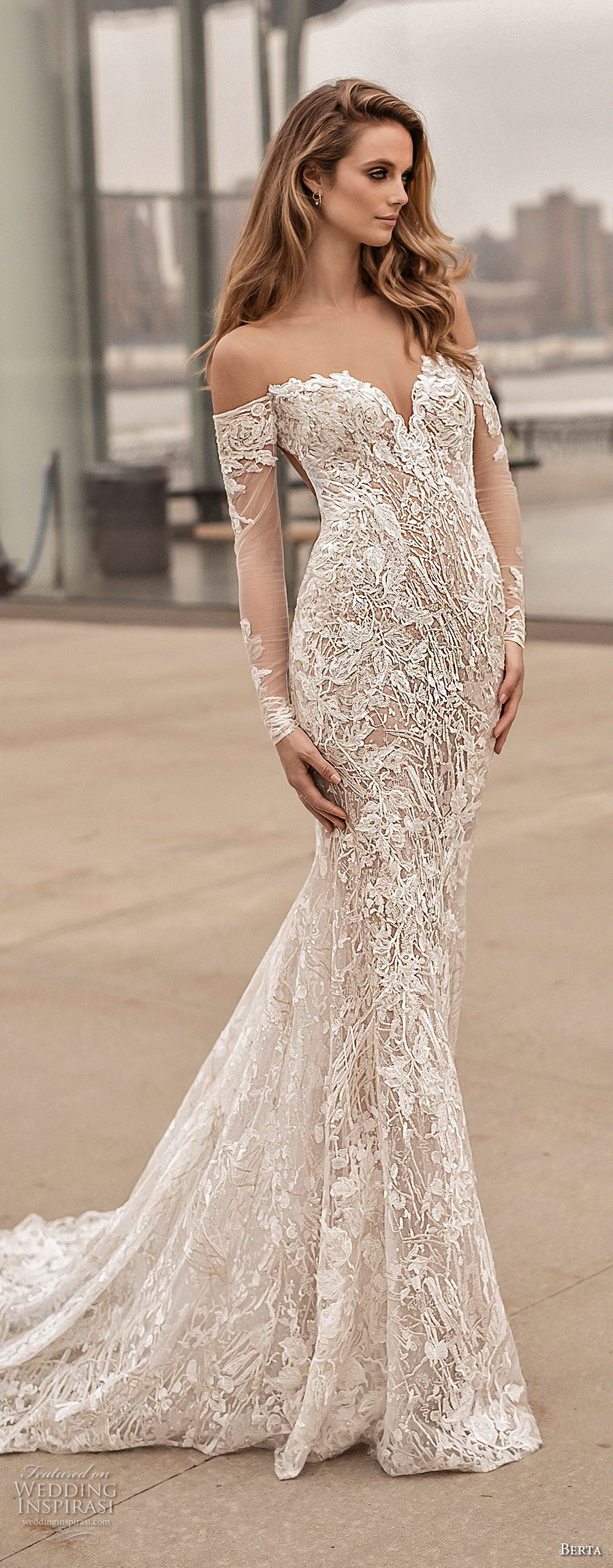 Berta spring 2018 wedding dresses campaign photos for Elegant long sleeve wedding dresses