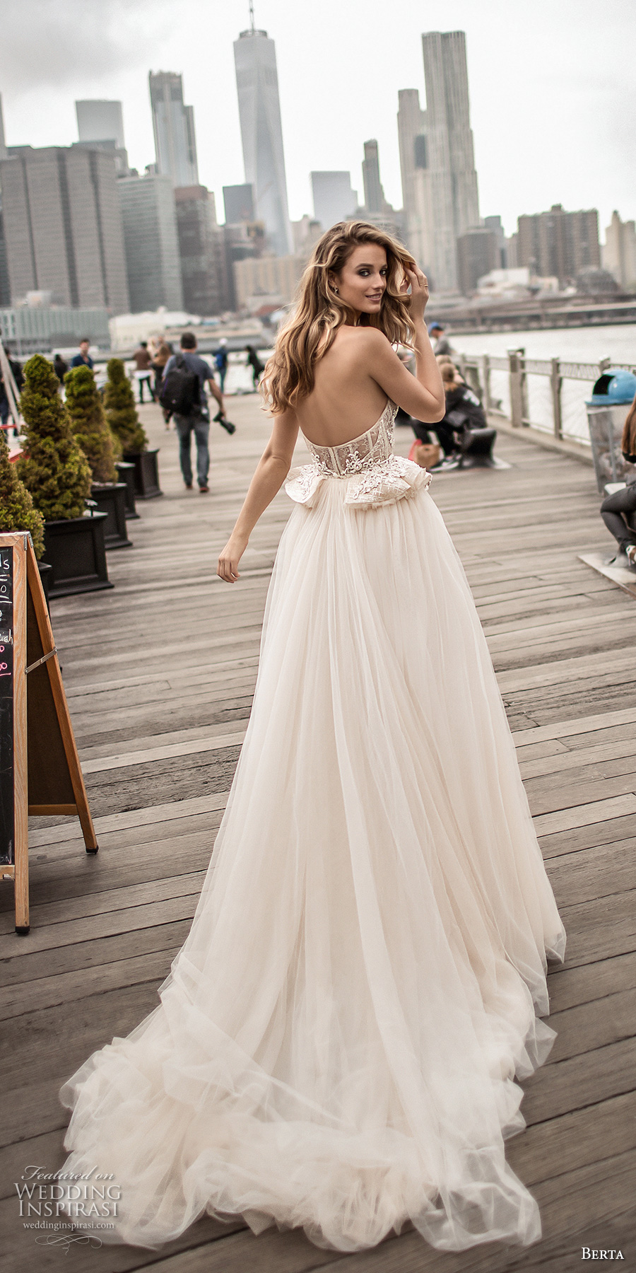 berta spring 2018 bridal strapless sweetheart neckline heavily embellished bodice bustier sexy romantic ball gown wedding dress chapel train (12) bv