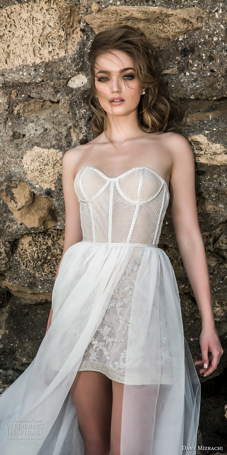 Dany mizrachi 2018 wedding dresses wedding inspirasi for Best bustier for strapless wedding dress