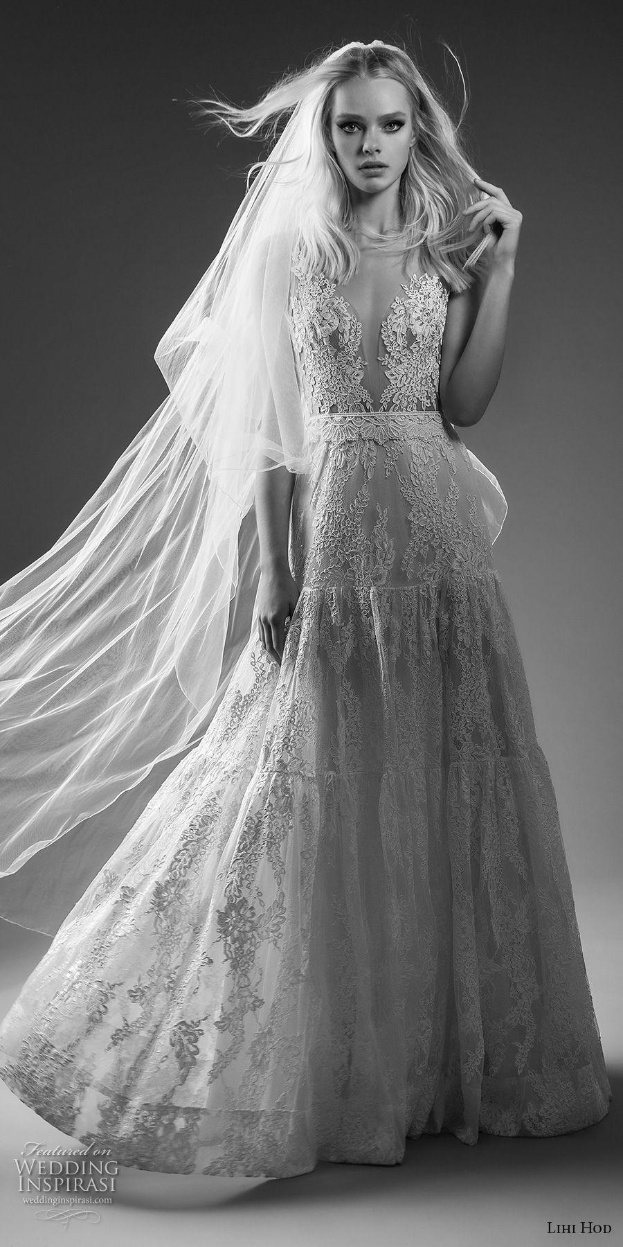 lihi hod bridal 2017 sleeveless sheer strap full lace embellishment romantic a  line wedding dress open back sweep train (alex) mv